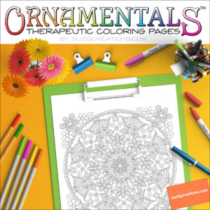 Butterfly Daze OrnaMENTALs™ #0033 Coloring Page