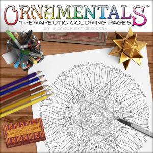 "OrnaMENTALS #0035 ""Solar Flair"" Coloring Scene"