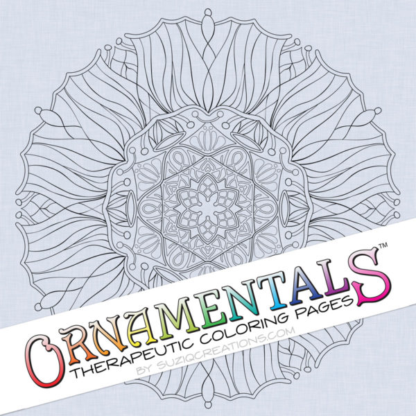 "OrnaMENTALS #0035 ""Solar Flair"" Coloring Page Preview"