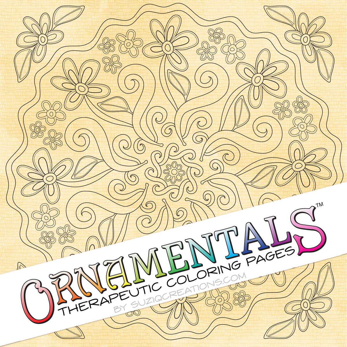 "OrnaMENTALS #0037 ""Daisy Chain"" Coloring Page Preview"