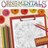 """OrnaMENTALS #0037 """"Daisy Chain"""" Coloring Page Scene"""