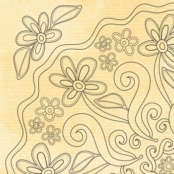 "OrnaMENTALS #0037 ""Daisy Chain"" Coloring Page Thumbnail"