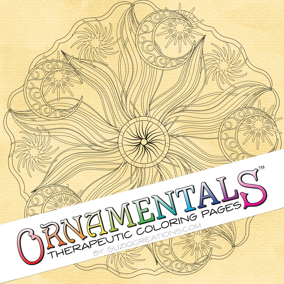 "OrnaMENTALS #0038 ""Celestial Peace"" Coloring Page Preview"