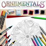 """OrnaMENTALS #0038 """"Celestial Peace"""" Coloring Page Scene"""
