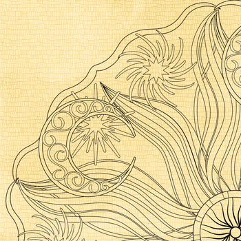 """OrnaMENTALS #0038 """"Celestial Peace"""" Coloring Page Thumbnail"""