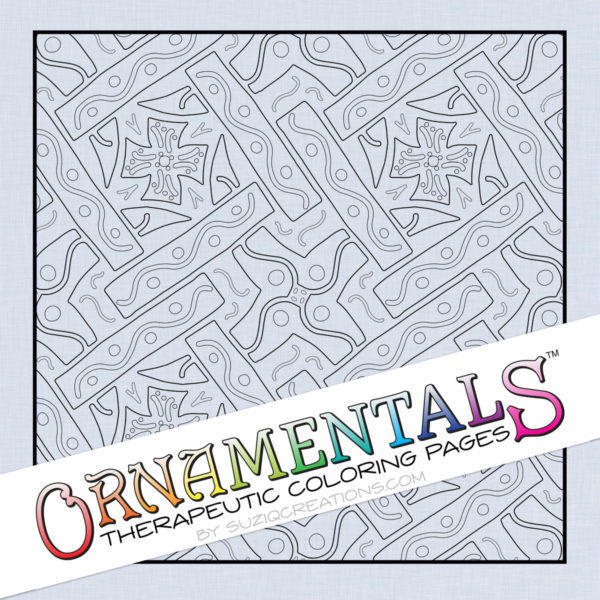 "OrnaMENTALS #0040 ""Cross Pieces"" Coloring Page Preview"