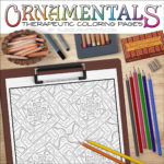 "OrnaMENTALS #0040 ""Cross Pieces"" Coloring Page Scene"