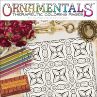 "OrnaMENTALS #0041 ""Quilt Connection"" Coloring Page Scene"