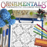OrnaMENTALS #0043 Dragonflies Dance Coloring Page Scene