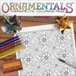Medallion OrnaMENTALs Coloring Page Design #0044 Digital Download