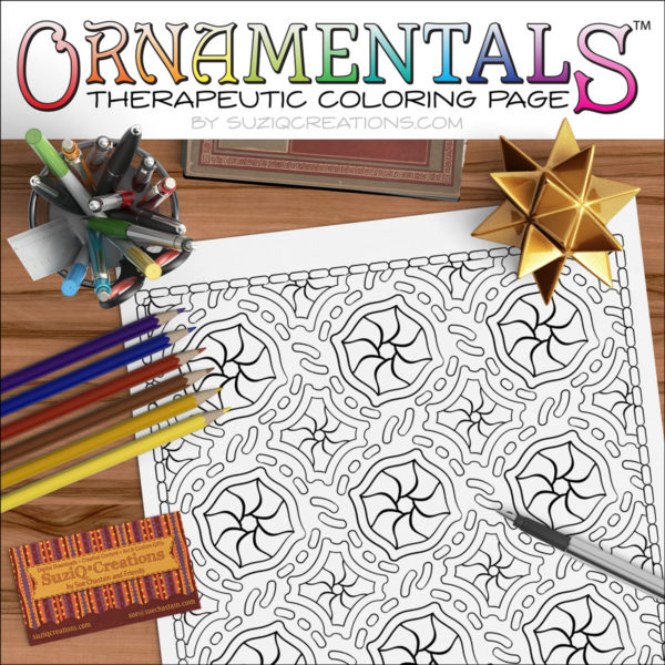Medallion OrnaMENTALs Coloring Page Design #0044 Digital Download