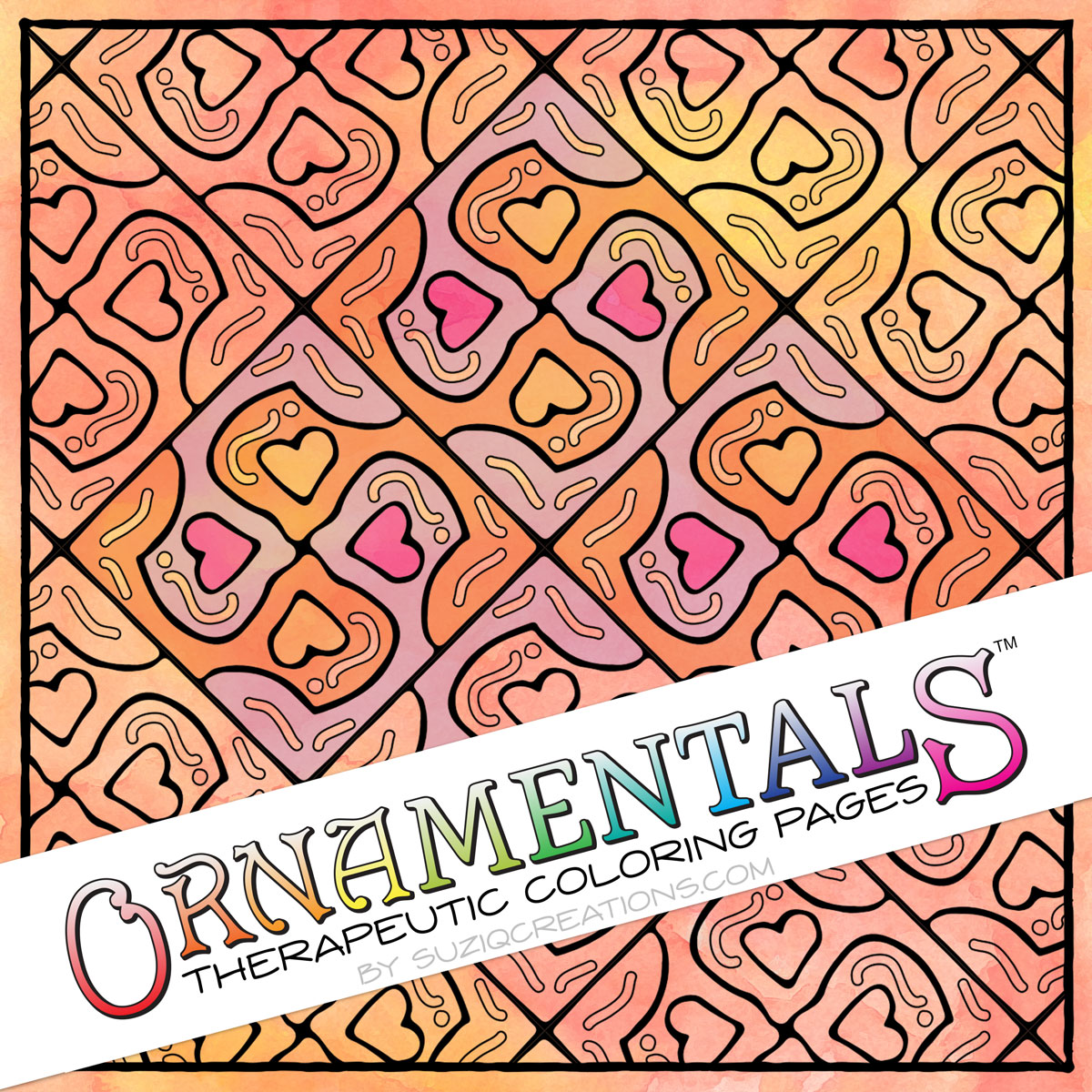A Lovely Puzzle OrnaMENTALs Coloring Page Design #0046 Preview