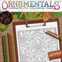 Tribal Triptych OrnaMENTALs Coloring Page Design #0048 Digital Download Coloring Scene