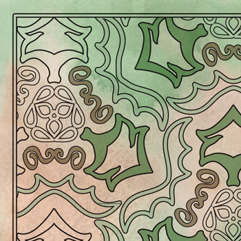 Tribal Triptych OrnaMENTALs Coloring Page Design #0048 Thumbnail