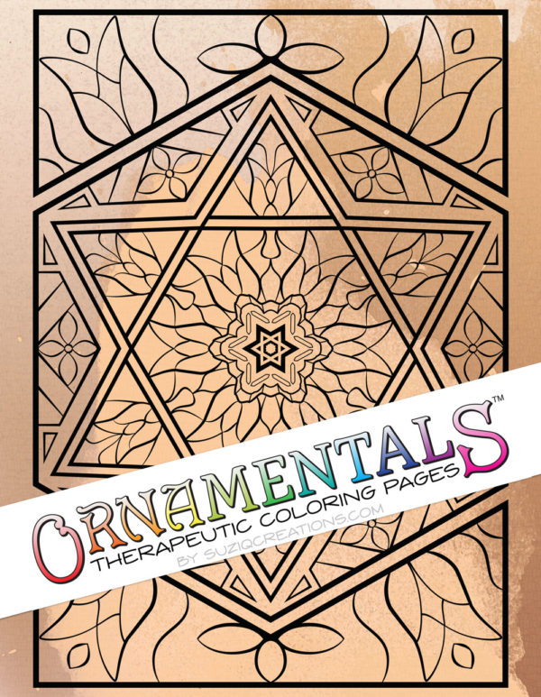 """Shalom"" Coloring Page OrnaMENTALS #0127 Preview"