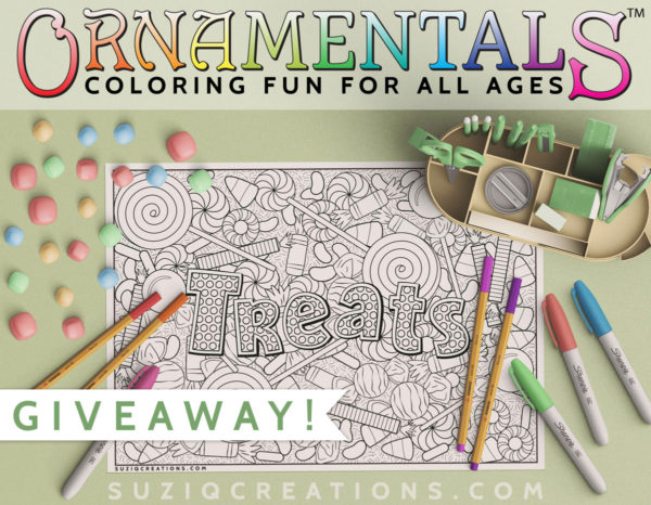 OrnaMENTALs Treats Coloring Page