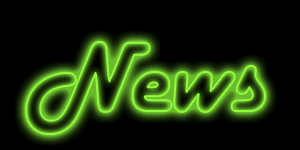 Text with Neon Glow Layer Style Effect Applied