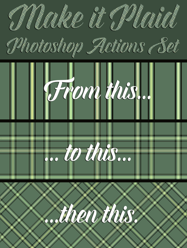 Make it Plaid Action Set Preview