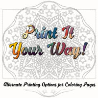 Alternate Printing Options for Coloring Pages