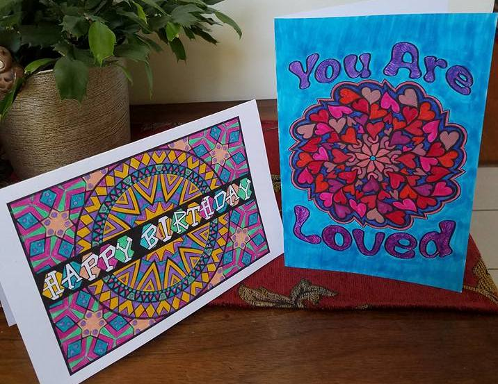Greeting Cards made from Feel Good Words To Go