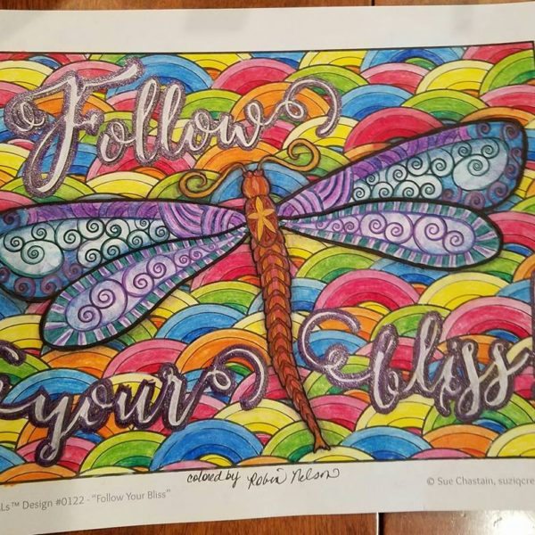 """Follow your Bliss"" colored by Robin Nelson"