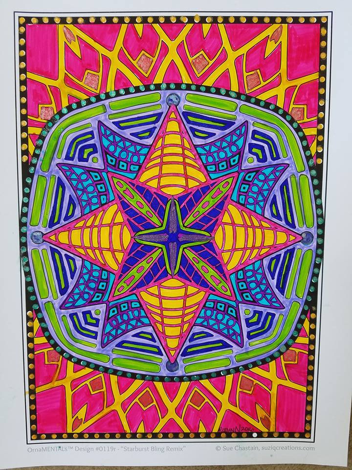 Starburst Bling Colored by Robin Wilson Nelson