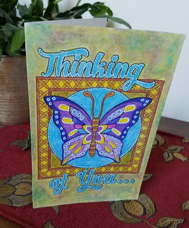 Thinking of You card made from Feel Good Words To Go