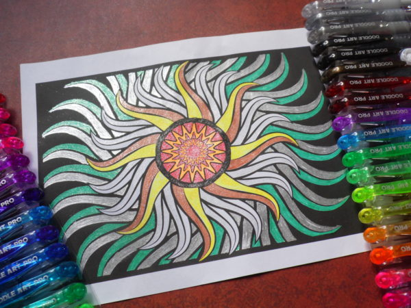 Doodle Art Pro Glitter Gel Pens - Product Review for Coloring