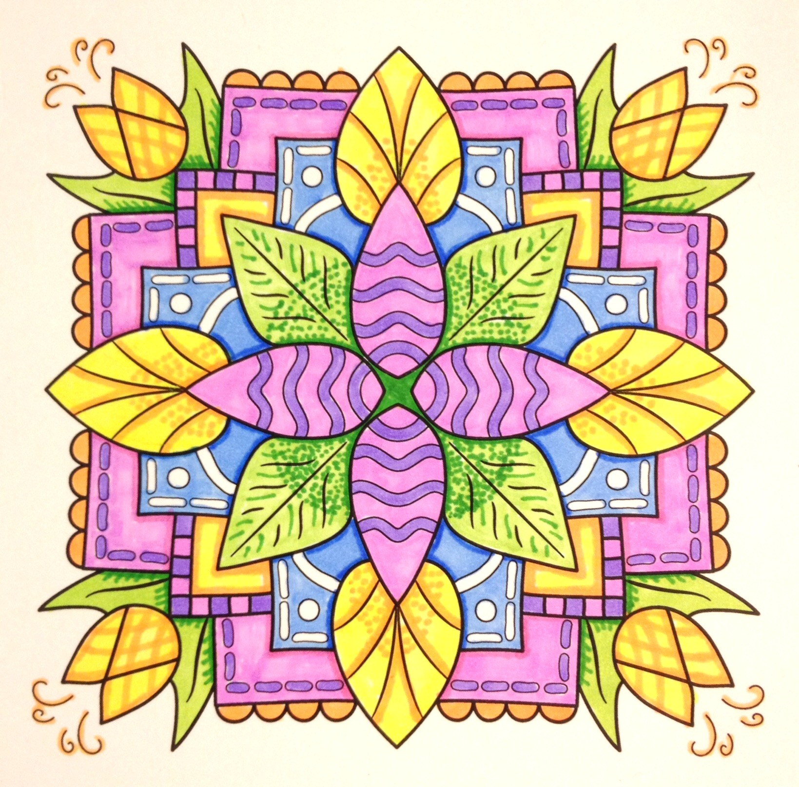 Sample from MiniMENTALs On-the-Go Coloring Book