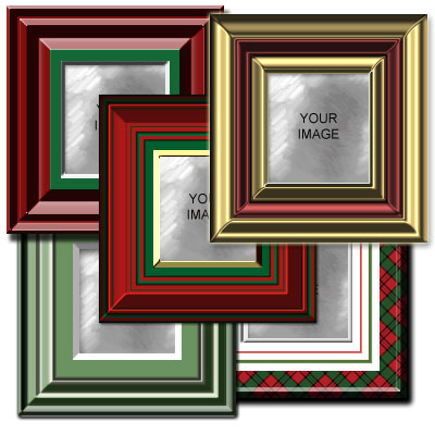 Christmas Frames Kit Preview of Styles 1-5