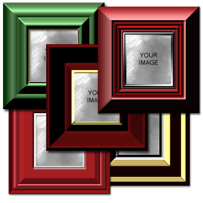 Christmas Frames Kit Preview of Styles 6-10