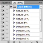 Scale Layer Effects Action