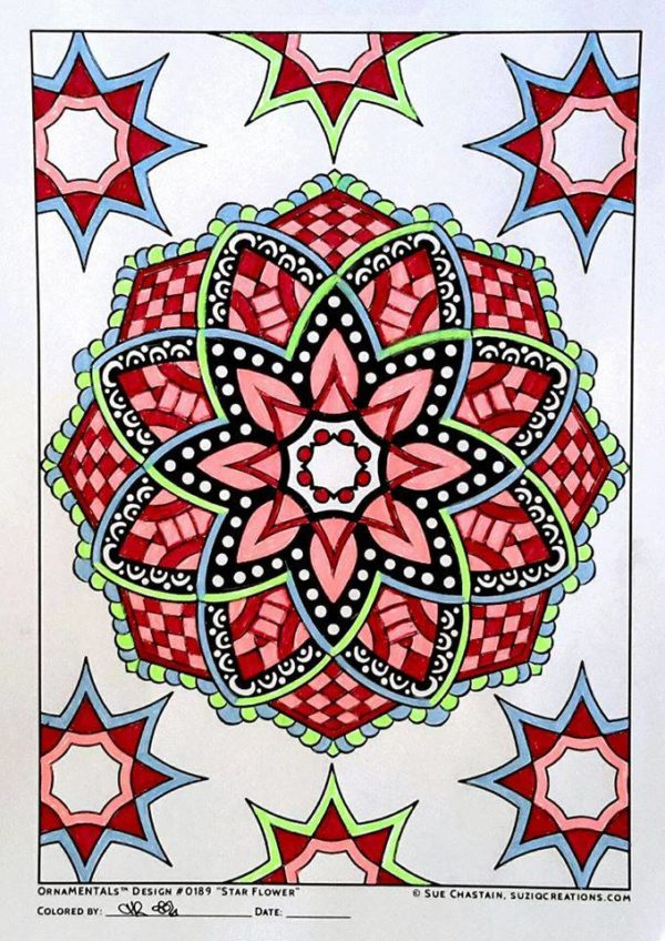 """Star Flower"" colored by T-Robyn Lyle"