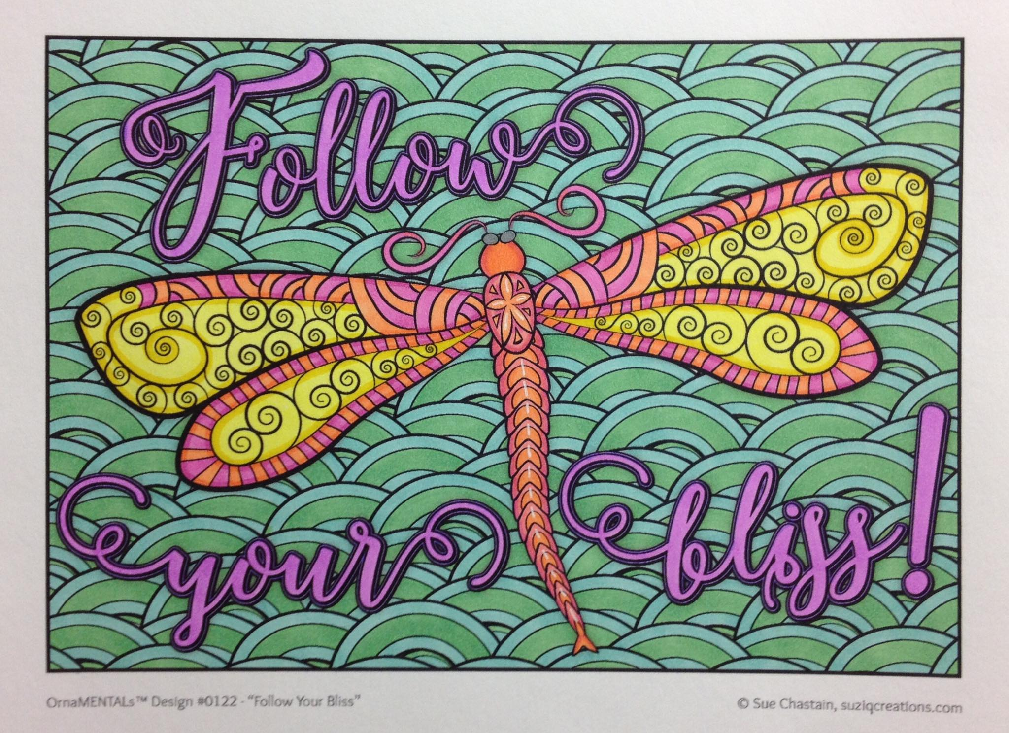 """Follow Your Bliss"" colored by Stephanie Walker"