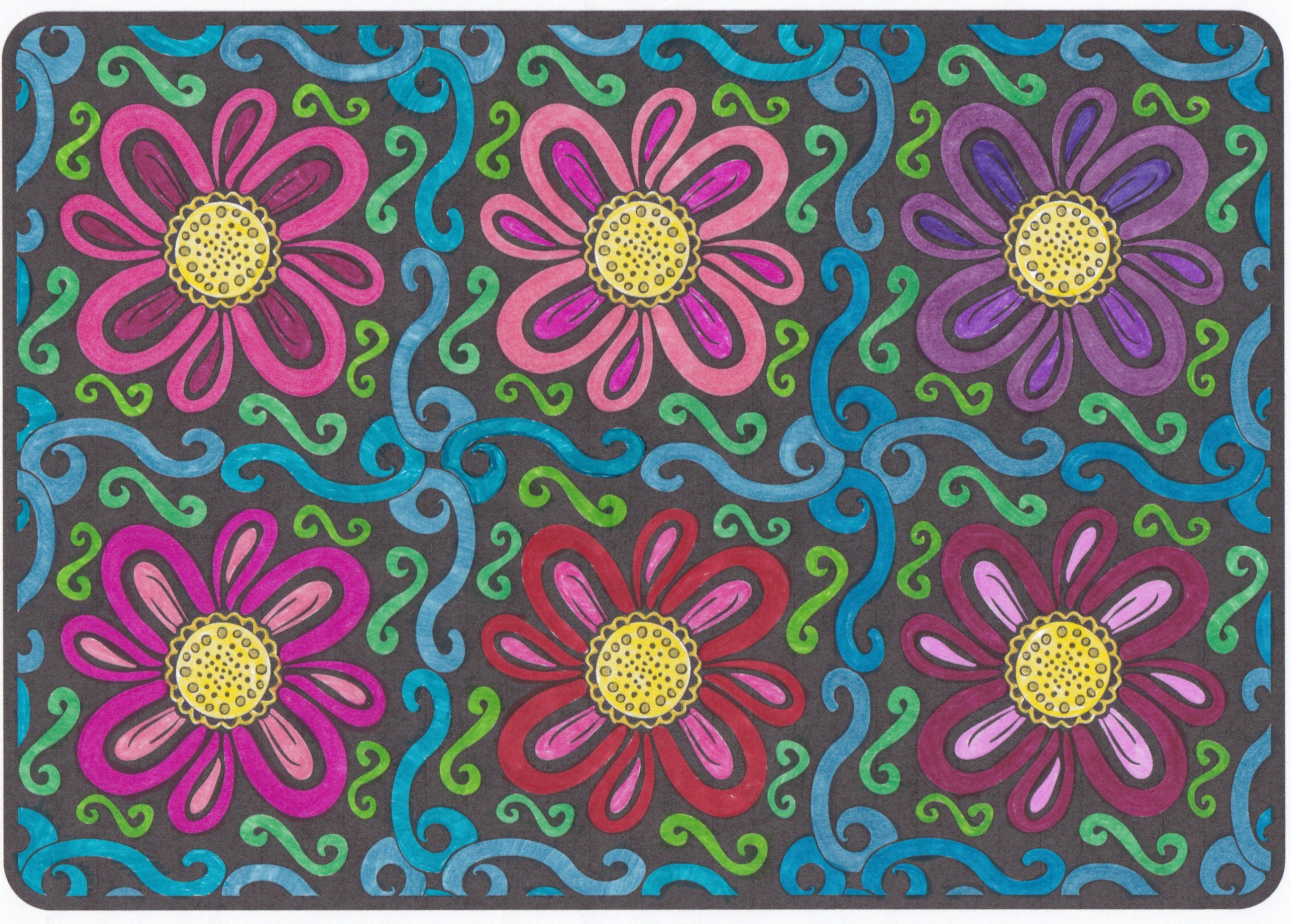 From OrnaMENTALs Lights Out, colored by Colleen Burns.
