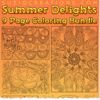 Summer Delights OrnaMENTALs Coloring Bundle
