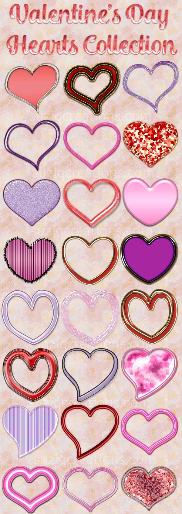 Valentine Hearts Collection Preview