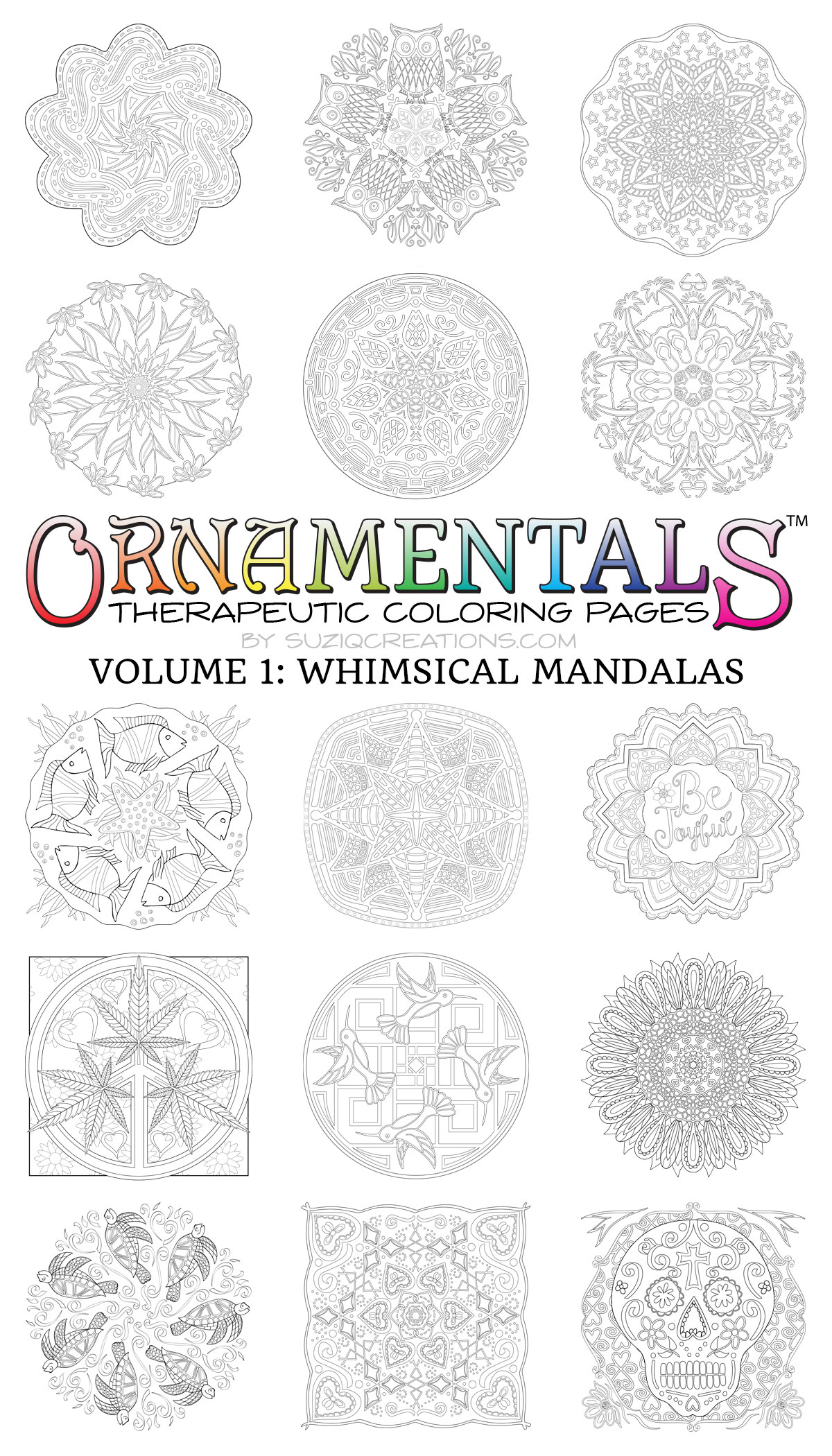 30 Whimsical Mandalas PDF EBook Edition