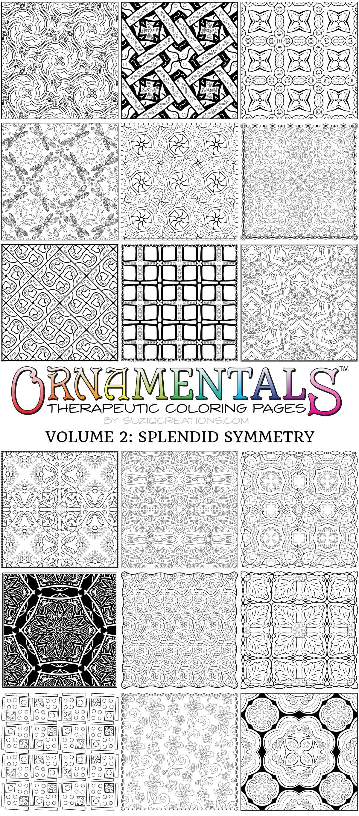 Designs from OrnaMENTALs™ Volume 2: Splendid Symmetry (1 of 2)