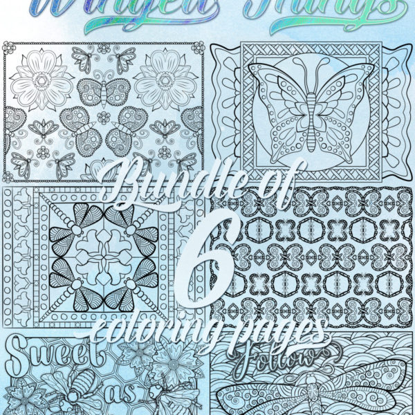 Winged Things OrnaMENTALs Coloring Bundle