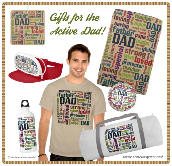 Active Dad Father's Day Word Cloud Gifts