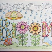 """""""Bloom"""" colored by David Wilmoth"""