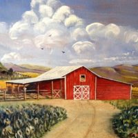 West Virginia Red Barn Painting
