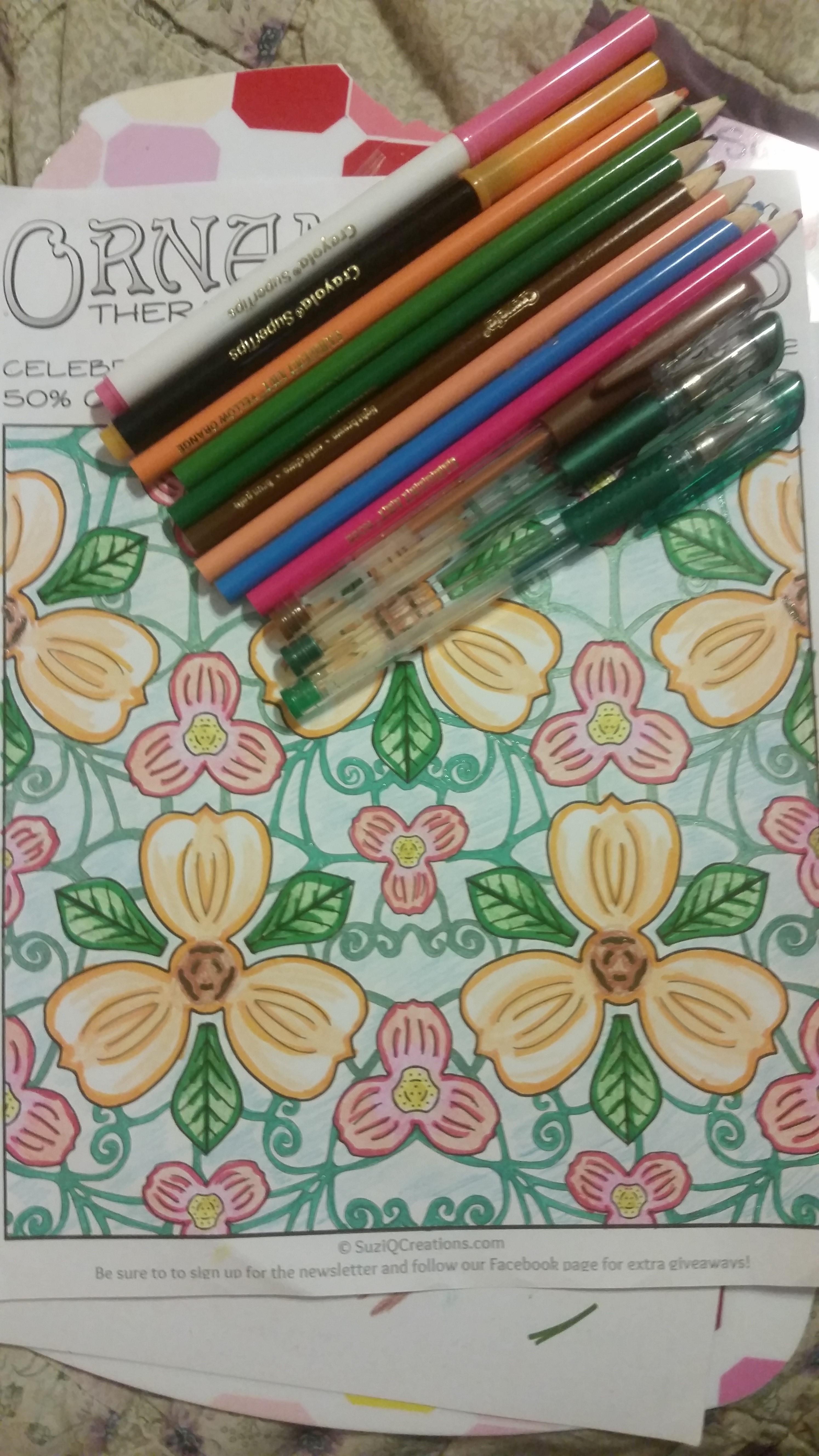 OrnaMENTALs Triple Treat Free Coloring Page - SuziQ Creations