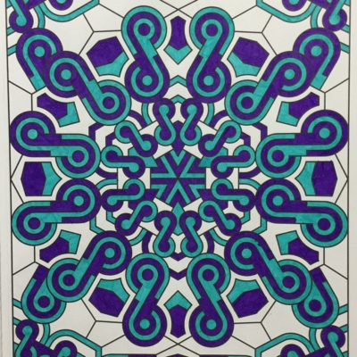 Creative Haven Mandala Techellations by John Wik. Colored by Ali Gibbs