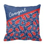 Denim Paisley Pillow