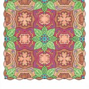 """""""Extravagance in Bloom"""" from Splendid Symmetry colored by David Wilmoth."""