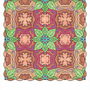 """Extravagance in Bloom"" from Splendid Symmetry colored by David Wilmoth."
