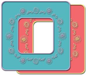 Flowers & Swirls Whimsical Frame Kit
