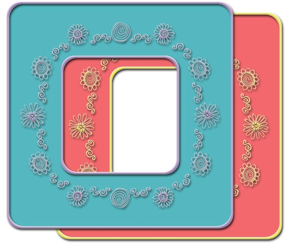 Flowers & Swirls Frame Kit
